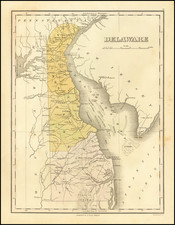 Delaware Map By Anthony Finley