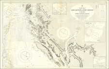 British Columbia Map By British Admiralty