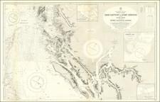 British Columbia Map By British Admiralty