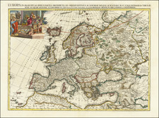 Europe Map By Pieter van der Aa