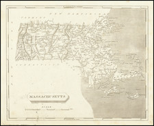Massachusetts Map By Aaron Arrowsmith  &  Samuel Lewis