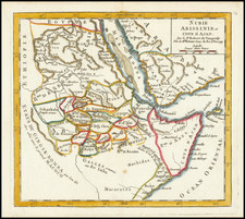 Middle East and East Africa Map By Gilles Robert de Vaugondy