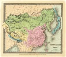 China, Japan and Korea Map By David Hugh Burr