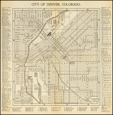 Colorado and Colorado Map By S.W. Baxter / C.N. Hoover