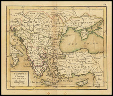 Greece, Turkey and Turkey & Asia Minor Map By Giovanni Antonio Rizzi-Zannoni