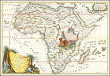 Africa Map By Vincenzo Maria Coronelli