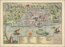 North Africa Map By Georg Braun  &  Frans Hogenberg