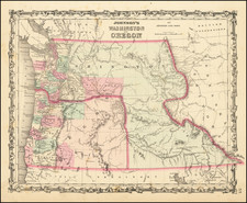 Idaho, Pacific Northwest, Oregon and Washington Map By Benjamin P Ward  &  Alvin Jewett Johnson