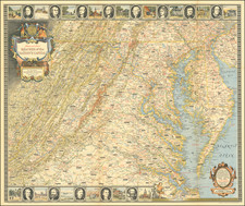 Maryland, Delaware, West Virginia and Virginia Map By National Geographic Society