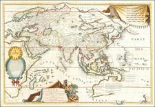 Asia and Australia Map By Vincenzo Maria Coronelli