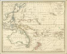 Australien (Sudland) auch Polynesien oder Inselwelt, insgemein der funfte Welltheil . . . 1820  (Sea of Korea) By Johann Walch
