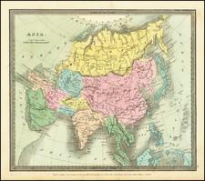 Asia Map By David Hugh Burr