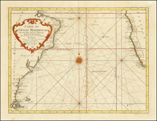 Atlantic Ocean and Brazil Map By Jacques Nicolas Bellin