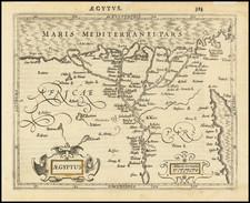 Egypt Map By Jodocus Hondius