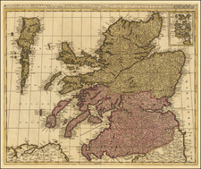Scotland Map By Gerard & Leonard Valk