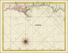 Florida, South, Louisiana, Alabama and Mississippi Map By Thomas Jefferys