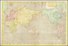 World Map By Aaron Arrowsmith  &  Samuel Lewis