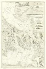 Washington and British Columbia Map By British Admiralty