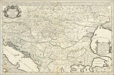 Hungary, Balkans and Bulgaria Map By William Berry