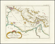 Middle East, Arabian Peninsula and Persia Map By Jacques Nicolas Bellin