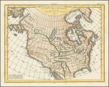 Alaska, North America and Canada Map By Denis Diderot / Didier Robert de Vaugondy