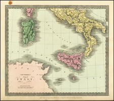 Southern Part of Italy (with Sicily, Sardinia, Malta and Part of Corsica) By David Hugh Burr