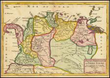 Colombia and Venezuela Map By Gilles Robert de Vaugondy
