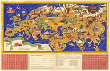 World, Europe, Mediterranean, Asia and Pictorial Maps Map By J.B. Jannot