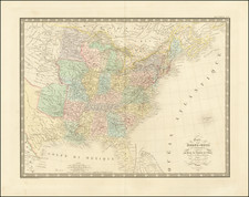 United States Map By J. Andriveau-Goujon