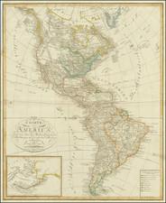 Alaska and America Map By Dr. F.W. Streit