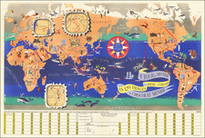 World and Pictorial Maps Map By J.B. Jannot