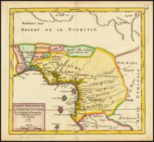 West Africa Map By Gilles Robert de Vaugondy