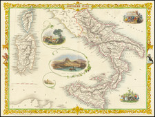 Southern Italy Map By John Tallis