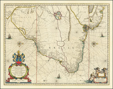 Brazil Map By Johannes Blaeu