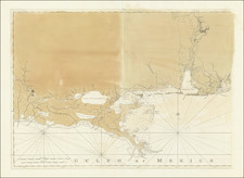 Florida, Louisiana, Alabama and Mississippi Map By Joseph Frederick Wallet Des Barres