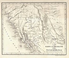 Texas, Southwest, Rocky Mountains and California Map By Georg A. Scherpf / G. Stempfle