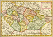 Czech Republic & Slovakia Map By Gilles Robert de Vaugondy