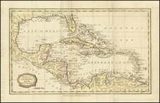 Florida, Caribbean and Central America Map By Charles Brightly  &  E. Kinnersly