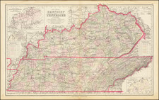 Kentucky and Tennessee Map By Frank Gray