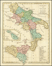 Southern Italy and Sicily Map By Robert Wilkinson