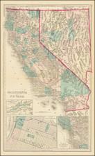 Nevada, California and Yosemite Map By O.W. Gray & Son