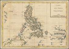 Philippines Map By Louis Brion de la Tour