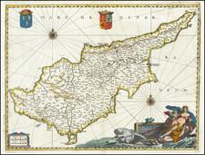 Cyprus Map By Matthaeus Merian