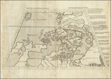 British Isles, Germany, Poland, Scandinavia, Iceland and Denmark Map By Claudius Ptolemy