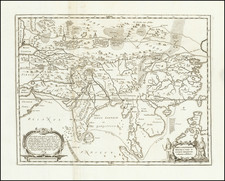Asia, China and India Map By Athanasius Kircher