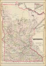 Minnesota Map By O.W. Gray