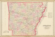 Arkansas Map By O.W. Gray