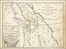 Idaho, Oregon, Washington, Western Canada and British Columbia Map By James Wyld