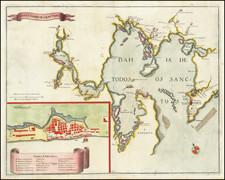 Brazil Map By Matthaus Merian
