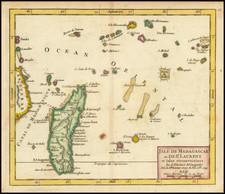 African Islands, including Madagascar Map By Gilles Robert de Vaugondy